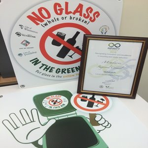'No Glass' campaign wins award