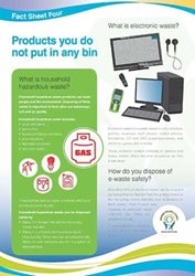 Fact Sheet 4: Products you do not put in any bin